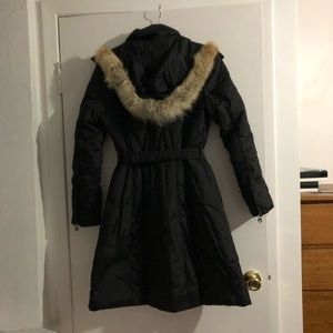 MARC NEW YORK Coat winter puffs fur hoodies belted